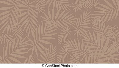 Tropical brown leaf pattern background. Poster/Template.