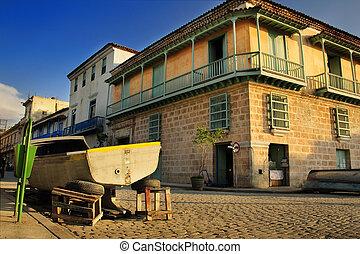 Tropical building in Old Havana