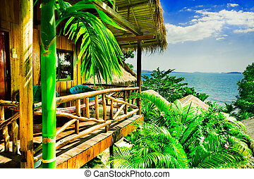 Tropical bungalow - Bungalow with view overlooking ocean