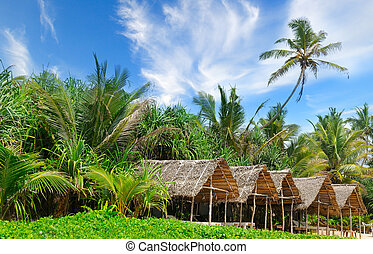Tropical bungalow on the amazing beach