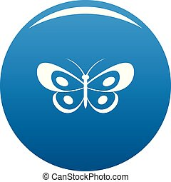 Tropical butterfly icon blue vector