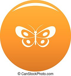 Tropical butterfly icon vector orange