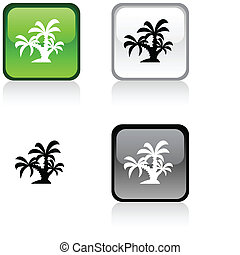 tropical button.