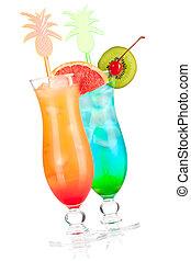 tropical, cócteles, dos,  Alcohol