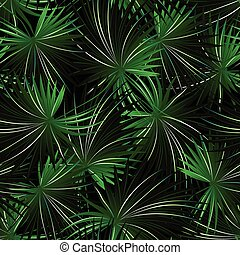 Tropical cabbage palm in a seamless pattern
