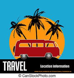 Tropical Camper Van Background