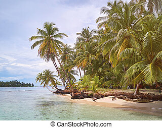 Tropical caribbean small virgin island