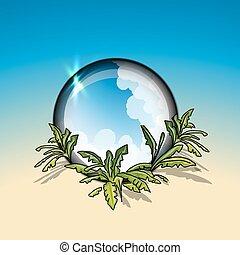 Tropical circle frame
