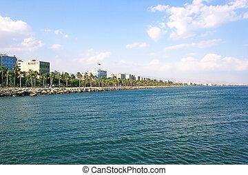 Tropical city beach