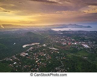 Tropical city landscape