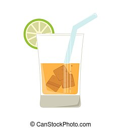 tropical cocktail drink icon