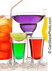 Tropical cocktails close-up