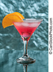 tropical cold red cocktail