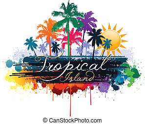 Tropical - colorful tropical background