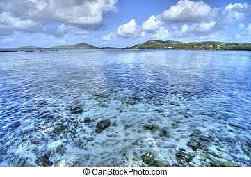 Tropical cove - Beautiful shallow cove of Datiles Beach on...