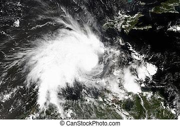 Tropical cyclone in the Caribbean Sea.