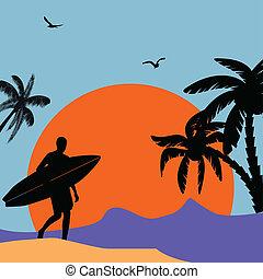 Tropical design poster