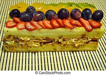 Tropical Dessert Fruit Bar Cake
