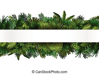 tropical, diseño, floral, foliage.