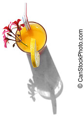 Tropical Drink and Shadow