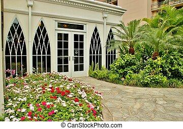 Tropical entrance