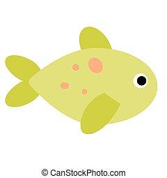 tropical fish flat illustration on white