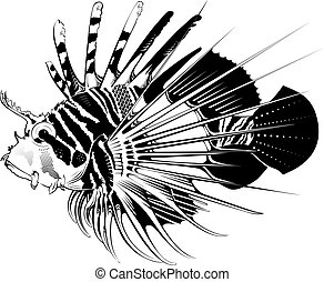 Tropical fish. Vector illustration