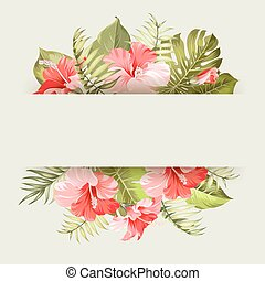 Tropical flower frame.