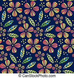 Floral deep night blueprint cyan seamless pattern floral deep night tropical flowers and leaves simple and decorative vector seamless element for surface design wrapping paper malvernweather Gallery