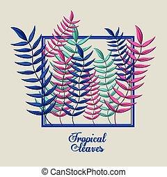 Tropical flowers design
