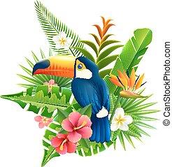 Tropical Flowers Illustration