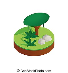 Tropical forest isometric 3d icon