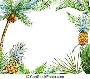 Tropical frame raster - Beautiful raster image with nice ...