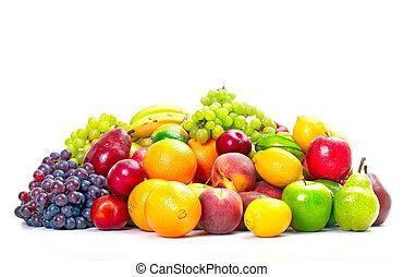 tropical, fresco, fruits.