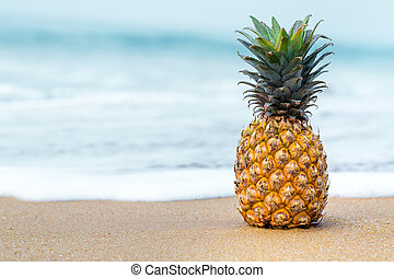 Tropical fruit by the ocean
