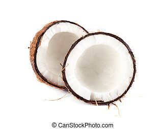 Tropical fruit coconut. Fresh coconut isolated on white background