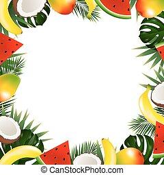 Tropical Fruit Frame