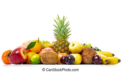tropical fruit isolated on a white background