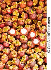 Tropical Fruit, Mangosteen Queen of fruit in Thailand