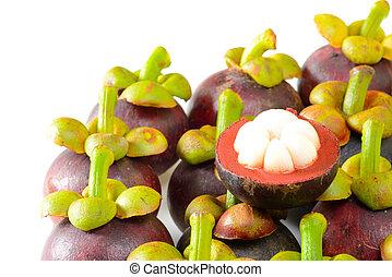 Tropical fruit mangosteen