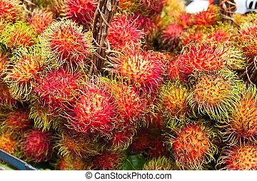 Tropical Fruit,Rrambutan.  - Tropical Fruit,Rrambutan.
