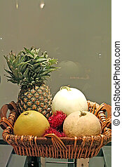 Tropical fruits - Basket of assorted tropical fruits ...