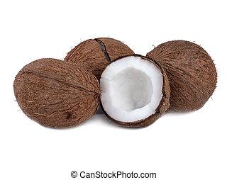 Tropical fruits coconuts