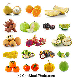 Tropical fruits.
