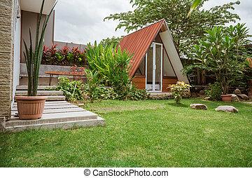 Tropical Garden backyard