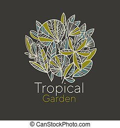 Tropical garden foliage Design element