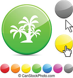 tropical glossy button.