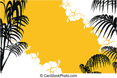 tropical hawaii background in vector format