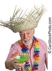 tropical, hombre mayor