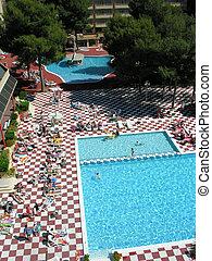tropical hotel pool